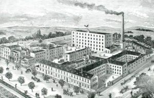 Часовая фабрика Густава Беккера во Фрайбурге (Силезия).
