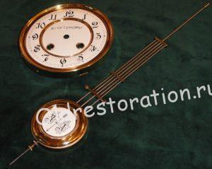 Полировка маятника и циферблата